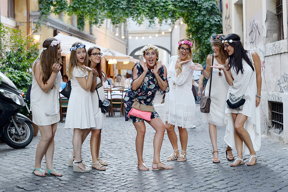Hen party photoshoot Rome