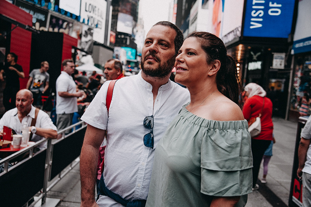 Italian couple in New York