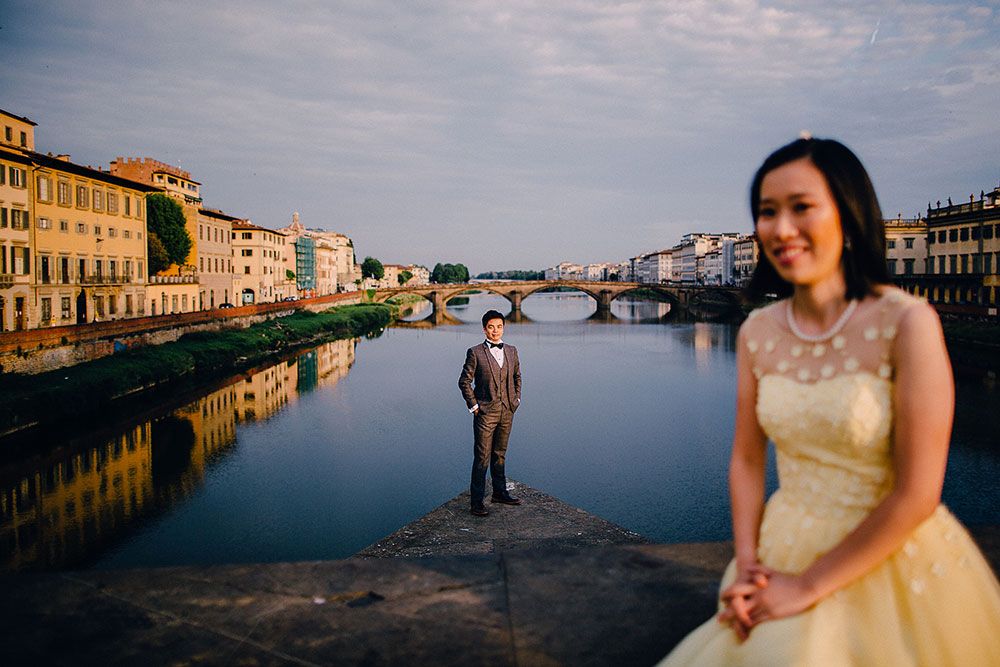 Florence holiday photographers for post wedding shoots