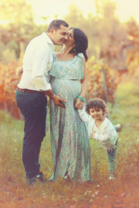 Pregnancy shoot with toddler