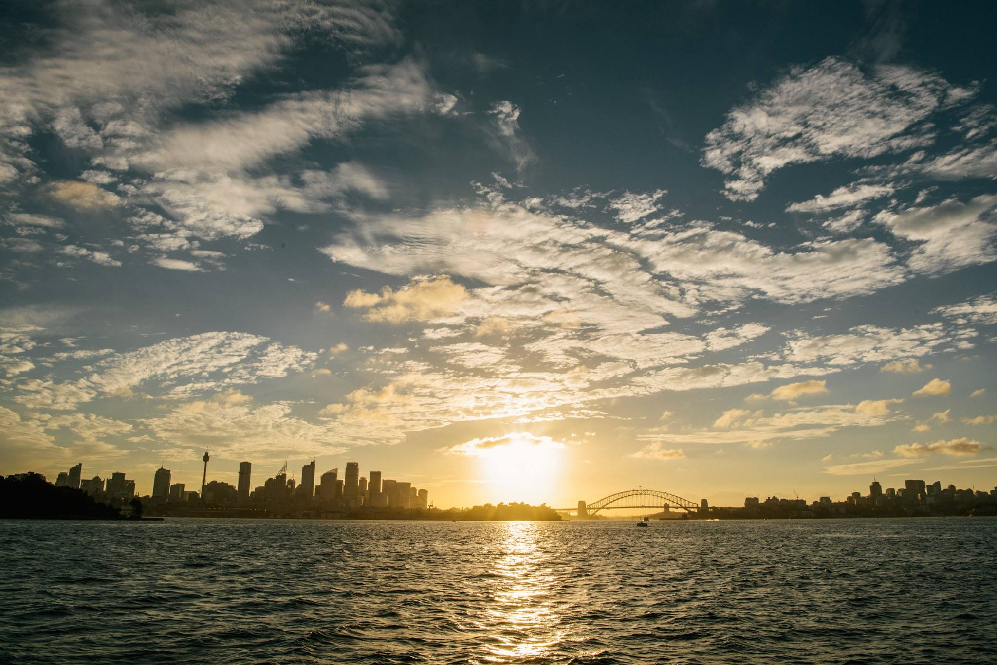 Sunset in Sydney with Pix Around