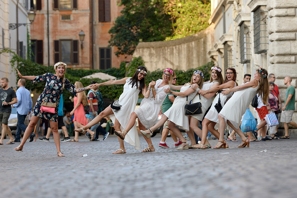 Holiday photographers for Bachelorette parties Rome