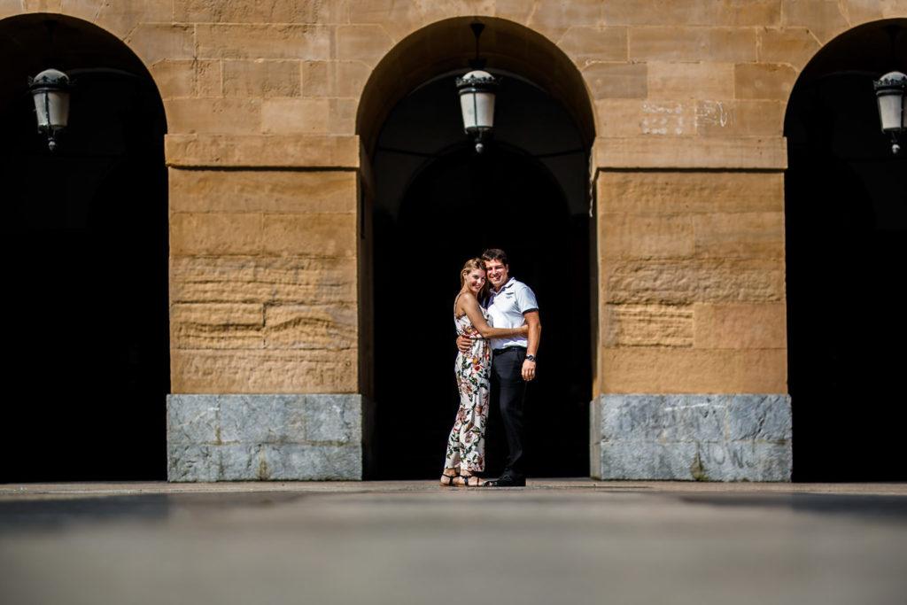 San Sebastian photographers, Maria and Ivan